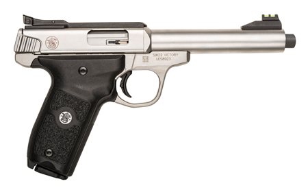 "S&W SW22 VICTORY .22LR 5.5"" AS 10-SHOT SS THREADED BBL - for sale"